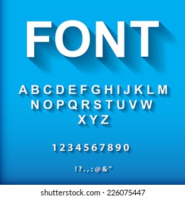 3d font.  Vector Illustration.