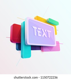 3D frame for text
