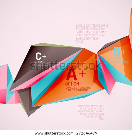 3 D Geometric Shapes Air Vector Abstract Stock Vector