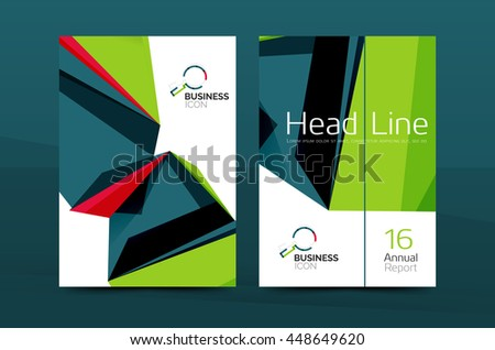 3 D Geometric Shapes Design A 4 Cover Stock Vector (Royalty