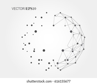 3d geometric vector background for business or science presentation.