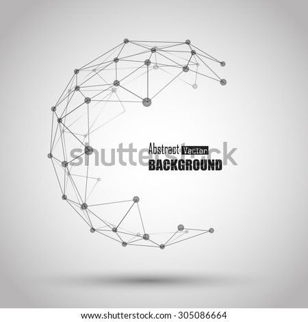 3 d geometric vector background business science のベクター画像素材