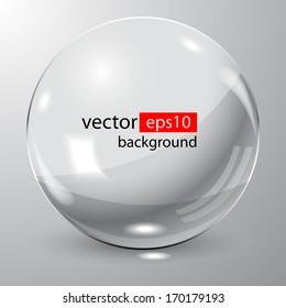 3D glass sphere. Vector illustration