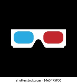 3d glasses. Colorful flat vector illustration