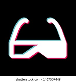 3d Glasses Icon In Trendy Style Isolated Background