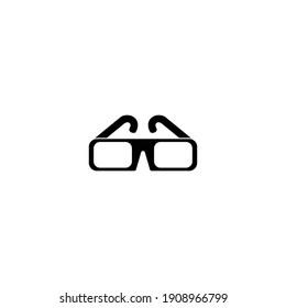 3D glasses icon vector sign symbol