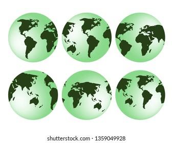 3D globe earth isolated decor