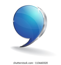 3d Glossy Talk Balloon Vector