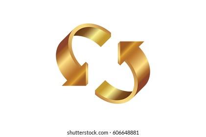 3D Golden arrows