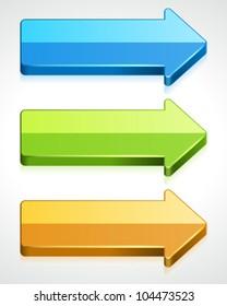 3d graph arrows vector design elements eps 10.