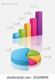 3d graph.Vector illustration