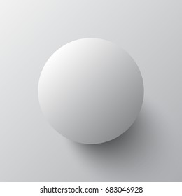 3d gray ball with shadow isolated on a gray background