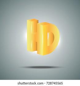 3D HD symbol vector illustration
