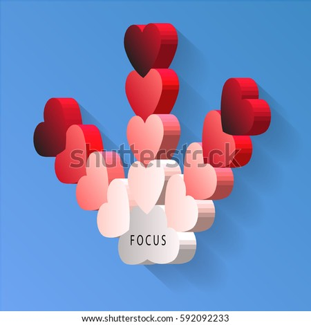 3 D Heart Direction Vector Stock Vector (Royalty Free