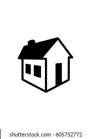 3D house icon, Vector