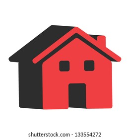 3D house red