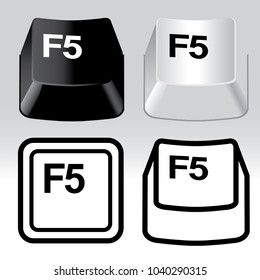 3D and icon keyboard button icon set