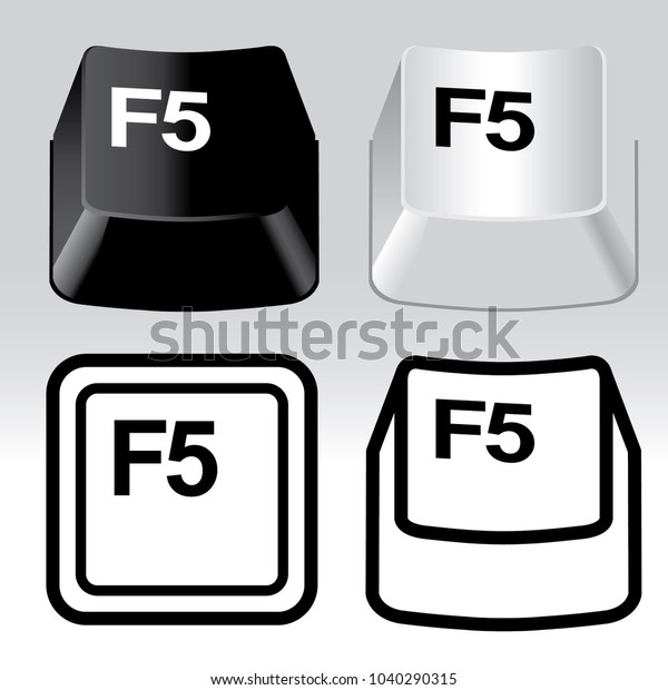 3d Icon Keyboard Button Icon Set Stock Vector (Royalty