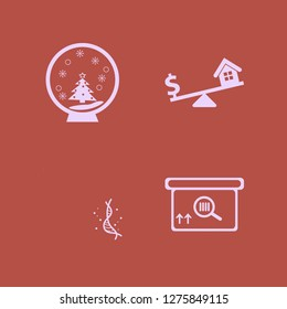 3d icon set. 3d vector with square barcode box, pandemic virus strand and snow globe icons illustration