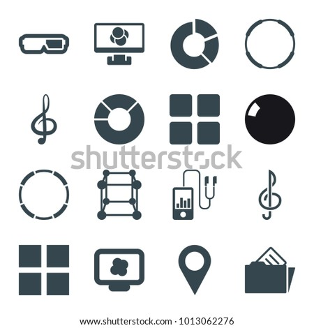 1ac4123e5 3d icons. set of 16 editable filled 3d icons such as cube, 3d glasses,  hoop, atom on display, pie chart, treble clef, document in folder, location  pin, ...