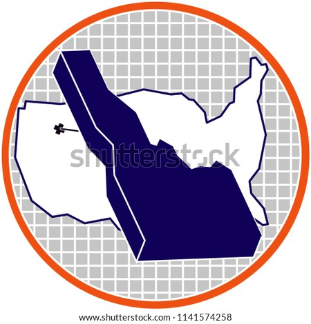 3 D Idaho On US Map Isometric Stock Vector (Royalty Free) 1141574258 ...