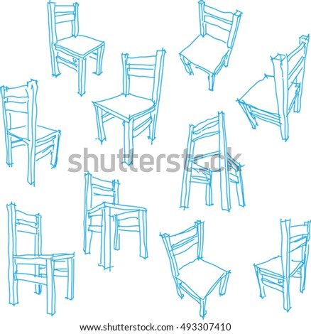 3 D Illustration Collection Ten Hand Drawn Stock Vector (Royalty