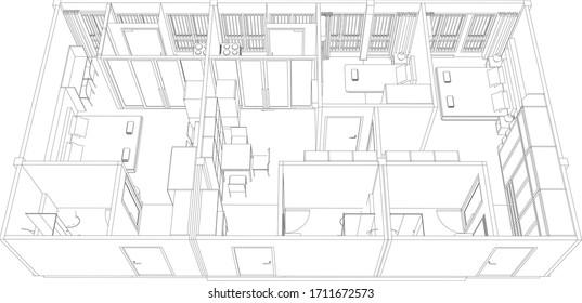 Factory Floor Plan Stock Vectors Images Vector Art Shutterstock