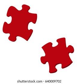 3d Illustration: Puzzle