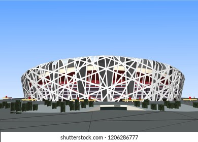 3D Illustration vector stadium