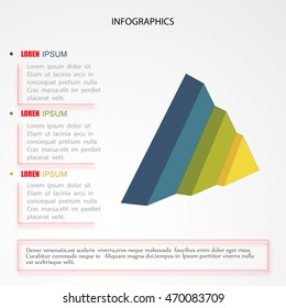 3D infographics in the form of triangles