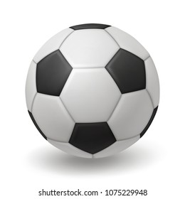 3d isolated soccer ball, classic design ball, EPS 10 contains transparency.