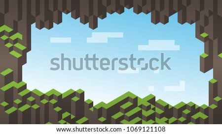 3d isometric background Cube