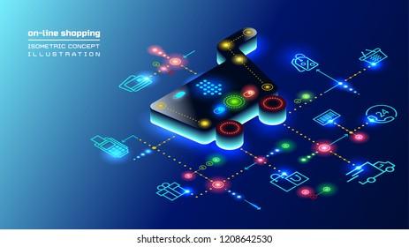 3d isometric concept illustration