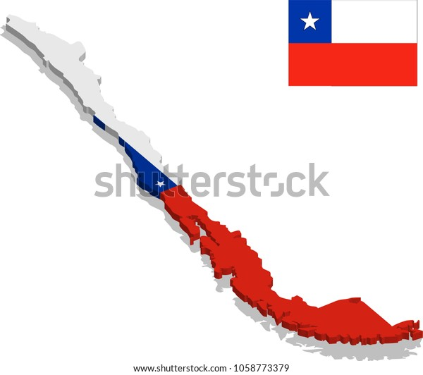 on chile flag map