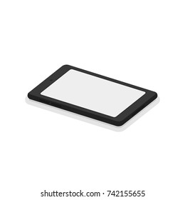 3d isometric smartphone. Flat vector illustration isolated on white background.