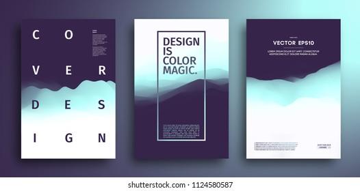 3D landscape Background. Blue Gradient Abstract Vector Illustration.Computer Art Design Template. Landscape mountain. Vector abstract landscape vibrant gradient background. Eps10 vector illustration.