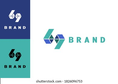 3D letter BP logo, with a box design concept, can also be used for the number 69 logo, creative and unique design.