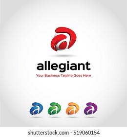 3D Letter a Logo