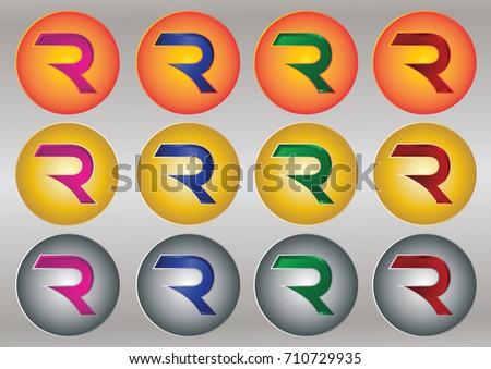 3D Letter R Logo Designs