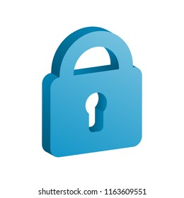 3d locked icon vector illustration. Free royalty images.
