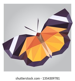 3d low poly butterfly polygon design