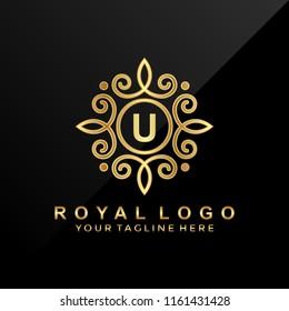 3D luxury letter U