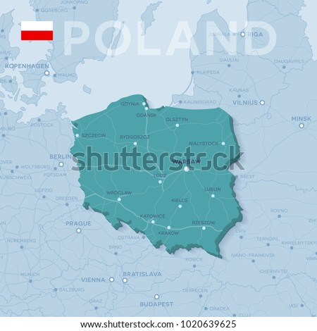 Europe Political Map With Cities.3 D Map Cities Roads Europe Countries Stock Vector Royalty Free