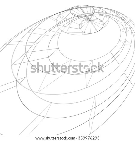 3 D Mesh Modern Stylized Abstract Background Stock Vector Royalty