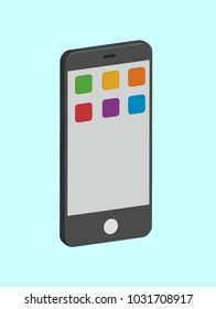 3D mobile smartphone in vector graphics