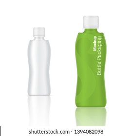 3D Mock up Realistic Bottle  Cosmetic Skincare or Drinking water Product Packaging on  Background Illustration