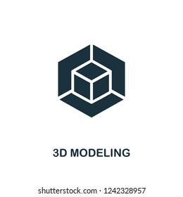 3D Modeling icon. Premium style design from design ui and ux collection. Pixel perfect 3d modeling icon for web design, apps, software, printing usage.