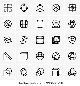 3d modelling icons