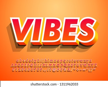 3d modern alphabet with warm vibes, orange color and shadow for simple warm modern title headline design