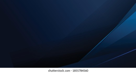 3d modern dark blue overlap abstract background with shiny lines layers. Texture with light blue triangle element decoration. Vector illustration for modern presentation background, banner